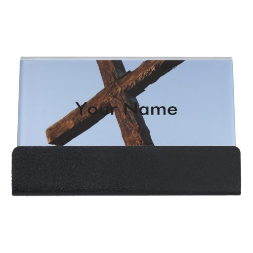 Ventura Cross Desk Business Card Holder Zazzle