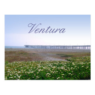 Ventura Dunes and Pier Travel Postcard