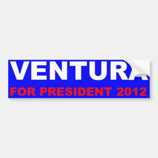 Ventura for president 2012 bumper sticker