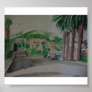 Ventura Landscape from Ash Street Poster