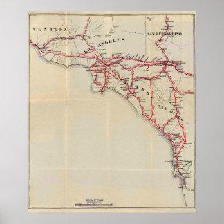 Ventura, Los Ángeles, San Bernardino, naranja Póster