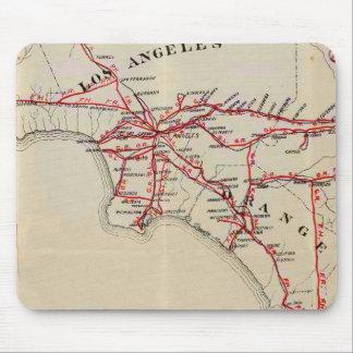 Ventura, Los Angeles, San Bernardino, Orange Mouse Pad