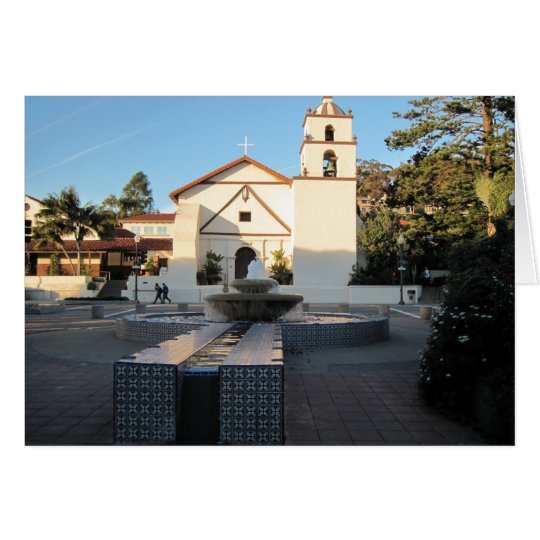 Ventura Mission from Mall Across Main St. Card