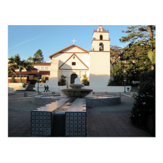 Ventura Mission from Mall Across Main St. Postcard