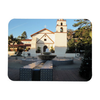 Ventura Mission from Mall Across Main St. Rectangular Magnets