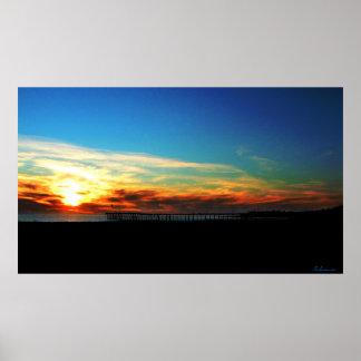 Ventura Pier Sunset January 8, 2012 Poster