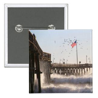 Ventura Pier Waves   El Nino Button