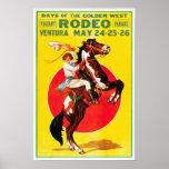 Ventura Rodeo, 1933. Publicidad del vintage Póster
