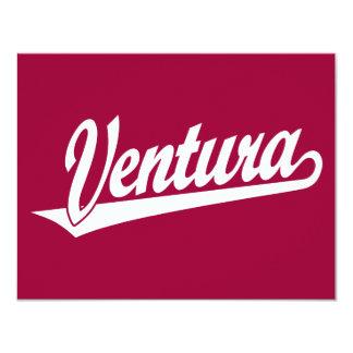 Ventura script logo in white card