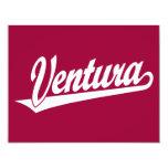 Ventura script logo in white 4.25x5.5 paper invitation card