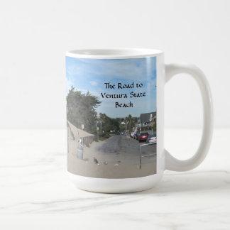 Ventura State Beach Access Road Classic White Coffee Mug