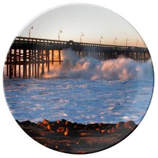 Ventura Storm Pier Porcelain Plate