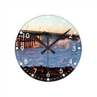 Ventura Storm Pier Round Clock
