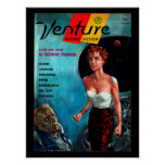 Venture - 1957.7_Pulp Art Poster