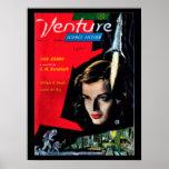 Venture - 1958.7_Pulp Art Poster