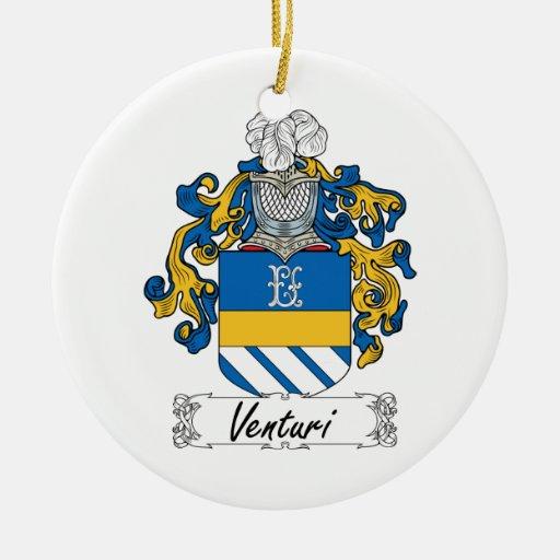 Venturi Family Crest Christmas Ornaments