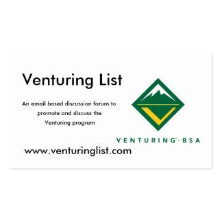 Venturing List cards Business Card