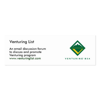 Venturing List cards Mini Business Card