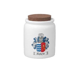 Venturini Family Crest Candy Jar