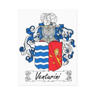 Venturini Family Crest Stretched Canvas Print
