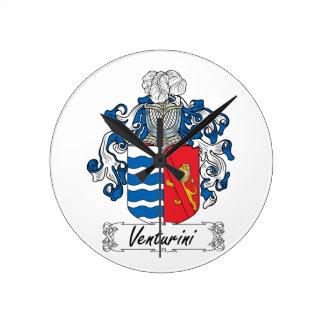 Venturini Family Crest Round Wallclock