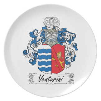 Venturini Family Crest Party Plate