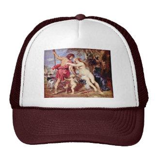 Venus And Adonis By Rubens Peter Paul Mesh Hats