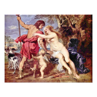 Venus And Adonis By Rubens Peter Paul Personalized Announcements