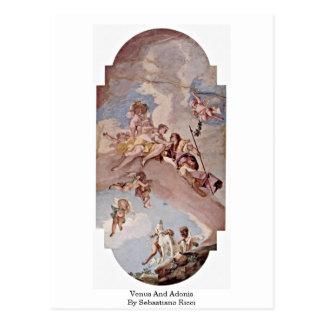 Venus And Adonis By Sebastiano Ricci Postcard