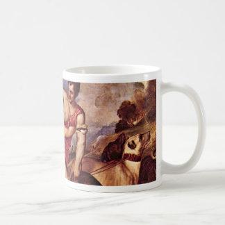 Venus And Adonis,  By Tizian (Best Quality) Mug