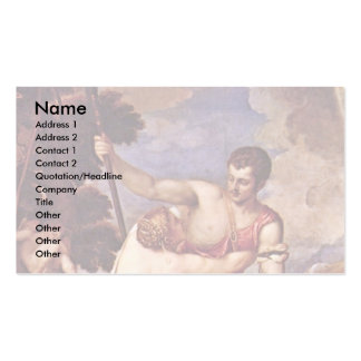 Venus And Adonis,  By Tizian Business Card