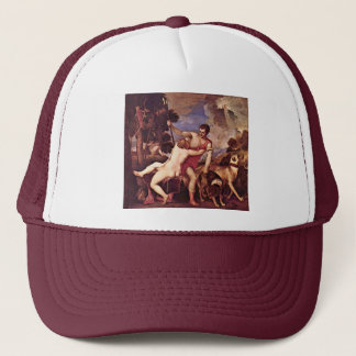 Venus And Adonis,  By Tizian Trucker Hat