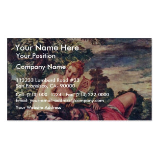 Venus And Adonis By Veronese Paolo (Best Quality) Business Card
