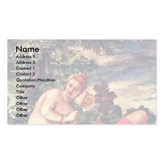 Venus And Adonis By Veronese Paolo (Best Quality) Business Card Templates