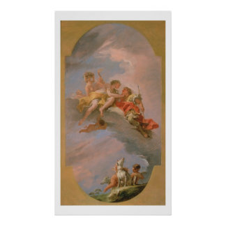 Venus and Adonis (oil on canvas) Posters
