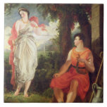 Venus and Anchises, 1826 (oil on canvas) Tile
