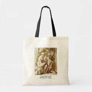 Venus And Cupid By Elsheimer Adam Budget Tote Bag