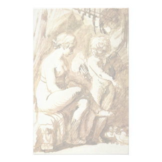 Venus And Cupid By Elsheimer Adam Stationery
