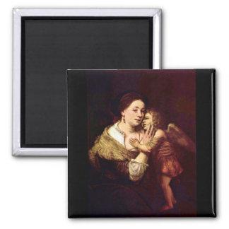 Venus and Cupid by Rembrandt Harmenszoon van Rijn Magnet
