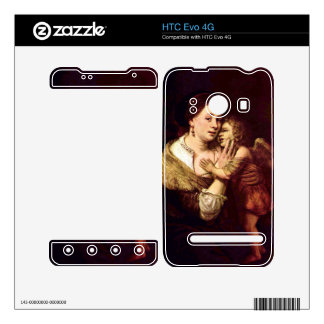 Venus and Cupid by Rembrandt Harmenszoon van Rijn Decal For The HTC Evo 4G
