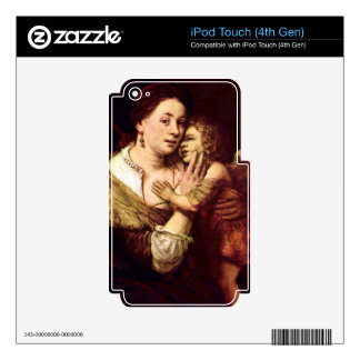 Venus and Cupid by Rembrandt Harmenszoon van Rijn Skin For iPod Touch 4G