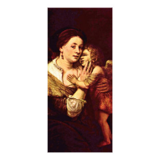Venus And Cupid. By School Of Rembrandt Rack Card