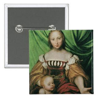 Venus and Cupid, c.1524 (oil on limewood) Pinback Button