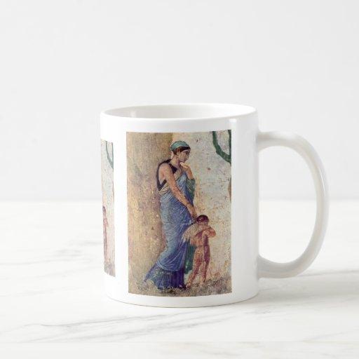 Venus And Cupid Punished Detail By Pompejanischer Coffee Mug