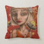 Venus and fireflies pillow
