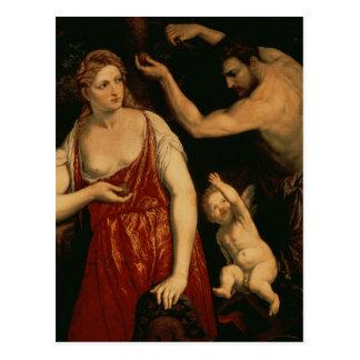 Venus and Mars, 1550s Postcard