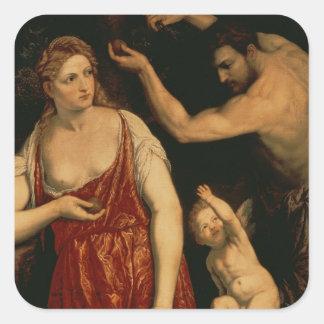 Venus and Mars, 1550s Square Sticker