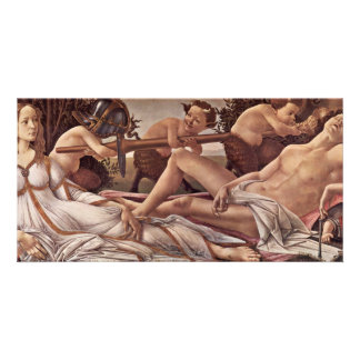 Venus And Mars By Botticelli Sandro (Best Quality) Photo Card Template