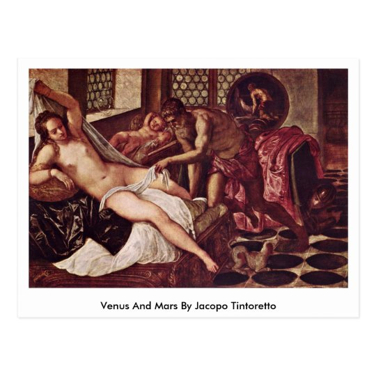Venus And Mars By Jacopo Tintoretto Postcard