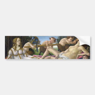 Venus and Mars by Sandro Botticelli 1483 Bumper Sticker